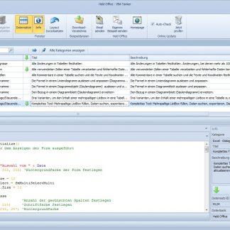 VBA-Tanker-Einzellizenz (Excel, englisch) – Held-Office-Shop