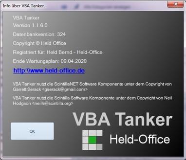VBA Tanker Jahreslizenz