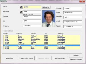 Daten über Userform verwalten